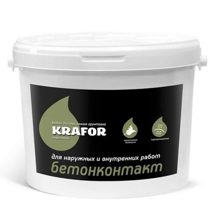 Грунт Бетоконтакт 12 кг KRAFOR