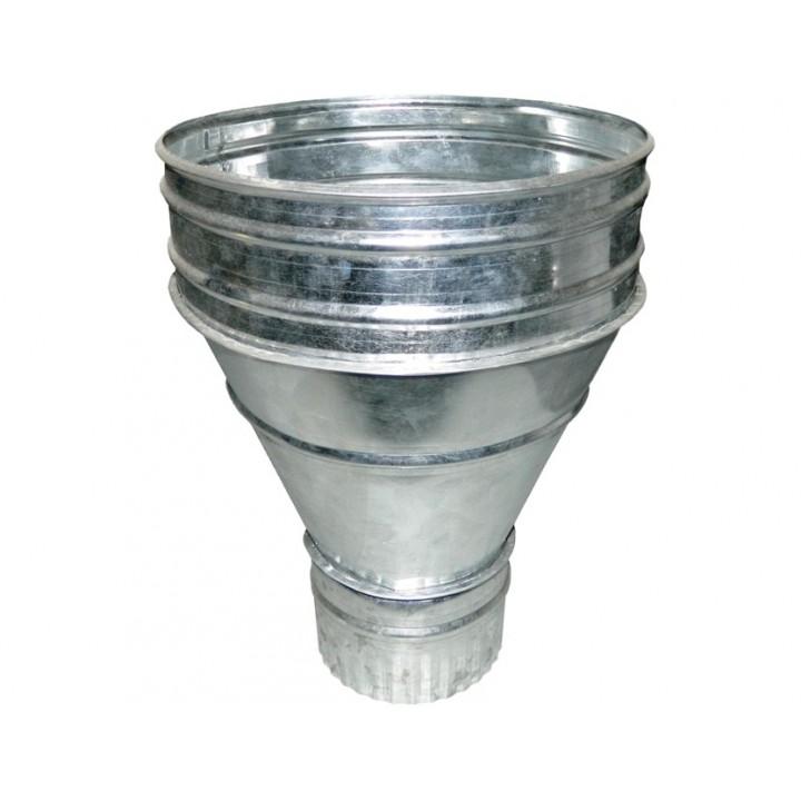 Воронка круглая универсальная, выход на трубу d 100