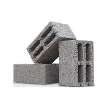 Блок бетонно-керамзитный пустотелый 39*19*19 код 21007