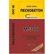 Смесь сухая пескобетон М-300, 30кг код 36046