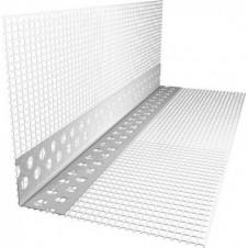 Угол фасадный ПВХ с сеткой  код 86017