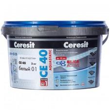 Затирка Ceresit CE 40 белая 01 2 кг ВОДООТТАЛКИВАЮЩАЯ